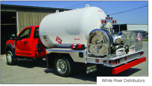 WHITE RIVER mfg of propane autogas trucks bobtails Chassis popular safety and comfort features profiled by BPN lpg industry leading source for news since 1939