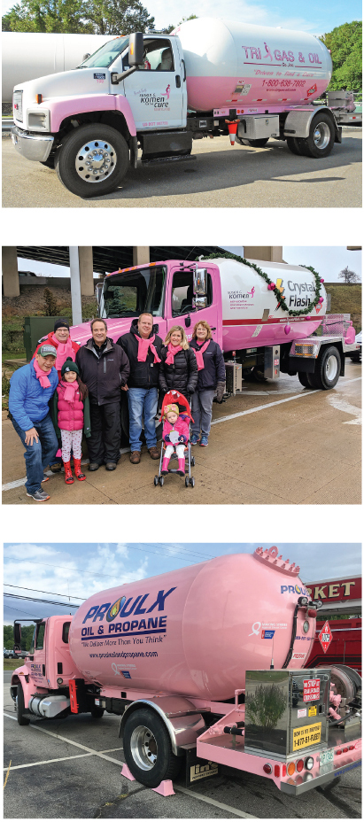 Hundreds of Pink Propane Trucks Make Deliveries to raise funds for breast cancer research