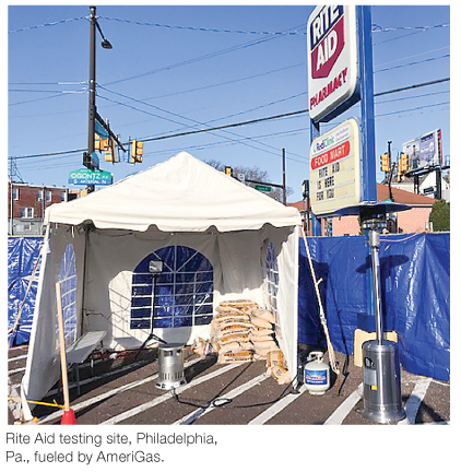 Propane LPG powers emergency Medical Tents other COVID pandemic energy needs reports BPN leading source of industry news since 1939
