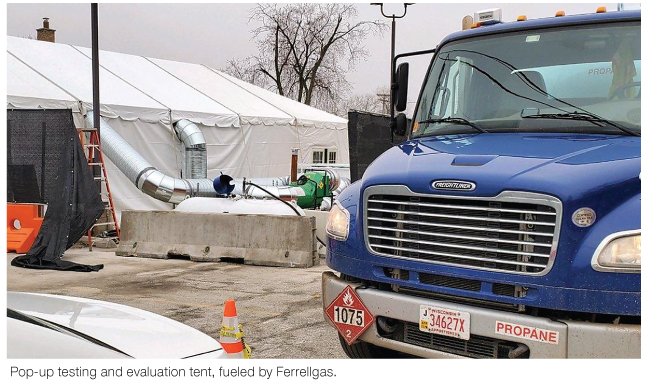 Propane powers COVID 19 Medical tents and provides relief to coronavirus victims
