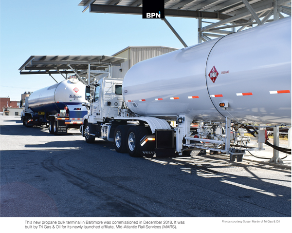 Tri Gas & Oil in Maryland build new propane terminal in Baltimore reports BPN the propane industry's leading source for news and information since 1939 in aug 2019 issue