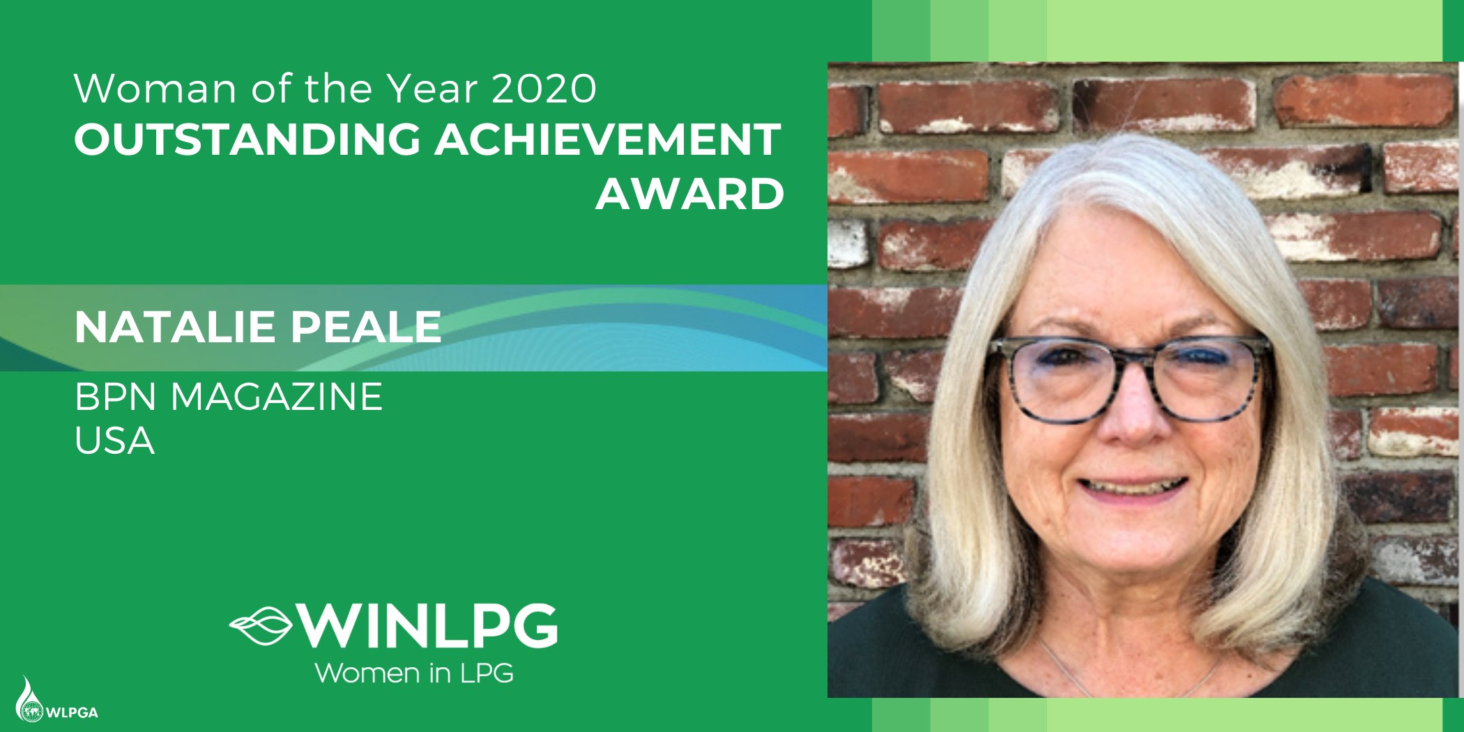 WLPGA Propane Woman of Year Award outstanding achievement goes to Bpn publisher Natalie Peal 2020